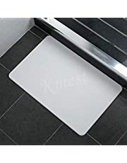 Large Super Dry Diatom Bathroom Bath Mat Anti-Slip Foot Shower Bathroom Bedroom Pad Mats 60x39cm AU Present (Grey)