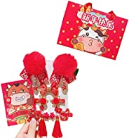 SONGBIRDTH Headdress Chinese Style Good-looking Vintage Style Baby Tassels Hairpins for New Year for Baby Girl