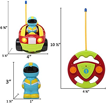 Children Holiday Gift Toy for 2 Year Old Joyin Inc Joyin-Toy01 School Classroom Prize Easter Basket Stuffers Joyin Toy Cartoon RC Race Car Radio Remote Control with Music /& Sound for Baby and Toddler Cars