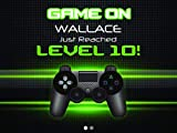 Custom Game Controller Gaming Birthday Poster Video Game Wall Decor, Gaming Birthday Banner Party Decoration, Personalized Gaming party, Birthday Party Supplies, Game Zone - sizes 36x24, 48x24, 48x36