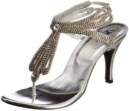 Unze Evening Sandals L18557W - Sandalias para mujer Plateado