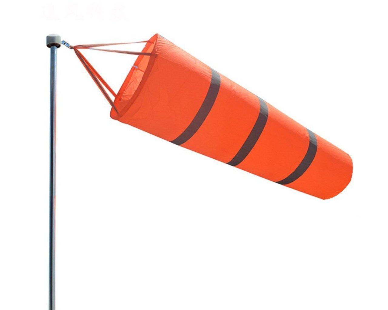 Directional Airport Windsock Orange Stripe Outdoor Windsock Measurement Sock Bag With Reflective Belt (100cm/39inch)