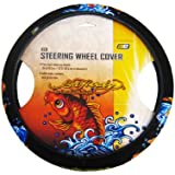 Microfiber Faux Suede Steering Wheel Cover - Ed Hardy by Christian Audigier - Koi