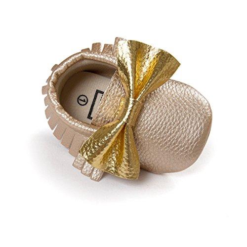 """JL bebé niñas suela suave borla Bowknots sintética zapatos de piel Mocasín #12 Talla:Length 13cm/5.12"""",Suitable Age12~18 month #13"""