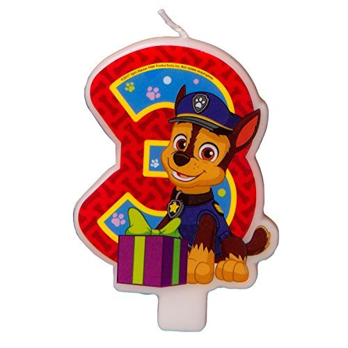 Сandle on a Cake Topper 3 Years Paw Patrol Must Have Accessories for the Party Supplies and Birthday]()