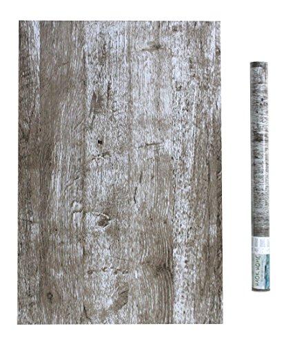 (HaokHome 1902 Distressed Wood Grain Wallpaper 17.7