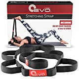 Yoga EVO Stretch Strap with Loops Used as Exercise Strap and Resistance Bands