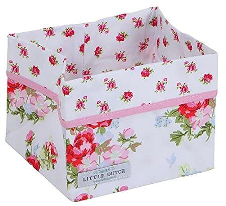 LITTLE DUTCH Wickeltischkörbchen klein 5980 weiß mit Rosen