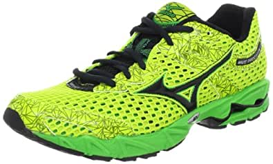 Mizuno Men's Wave Precision 13 Running Shoe,Lime Punch /Anthracite /Classic Green/Black,8 D US