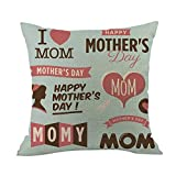 2019 EOWEO Happy Mothers' Day Sofa Bed Home Decoration Festival Pillow Case Cushion Cover(45cm×45cm,Multicolor-A)