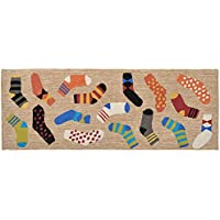 Area Rugs - Mismatched Socks Rug - 27 X 72 Runner - Laundry Room - Mud Room - Indoor Outdoor Rug