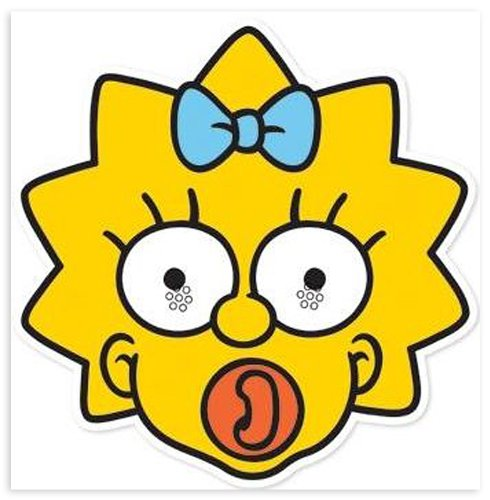 Maggie Simpson Fancy Dress Costume (Die Simpsons Party-Mask Maggie)