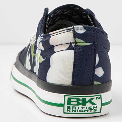 British Knights Master Lo, Women's Low NAVY/CREME FLOWER