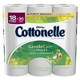 COTTONELLE BATH TISSUE GENTLE CARE WITH ALOE & E DOUBLE ROLL 18 CT