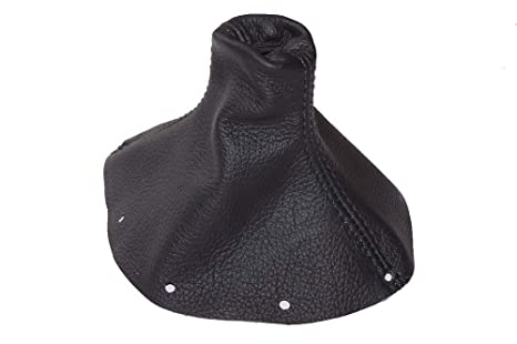 BLUE STITCH FITS AUDI TT 1998-2006 SHIFT BOOT REAL BLACK PERFORATED LEATHER