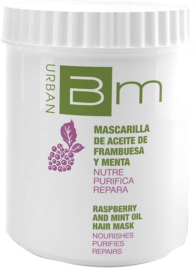 Blumin Mascarilla de Pelo/Mascarilla para el Cabello de Frambuesa y Menta con Ácidos Grasos Esenciales, 700 ml