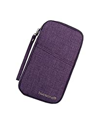 Mushion Multi-purpose Passport Credit Id Card Cash Travel Document Holder Organizer Wallet (Purple)