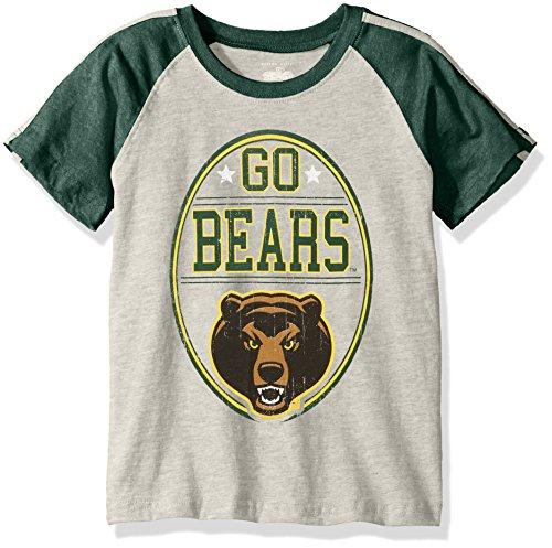 (NCAA Boys Raglan Short Sleeve Stripe Tee,Baylor Bears,Green,6 )