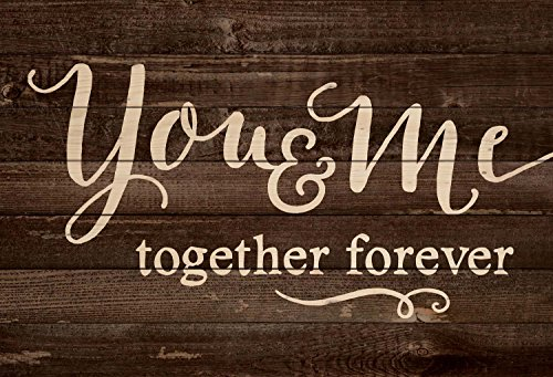 You & Me Together Forever 25 x 36 Wood Pallet Wall Art Sign Plaque by P Graham Dunn