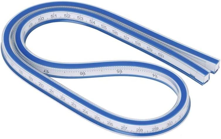 Dtacke 1pcs 60cm// 23 Flexible Curve Ruler Double Side Scale for Drafting Drawing Surveying Sewing Clothing Engineering