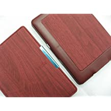 Capa de Couro PU para Kindle Paperwhite (todas as edições) - Rígida - Fecho Magnético - Hibernação - Várias Cores (madeira)