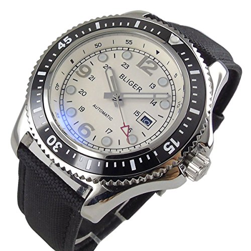 31mm black sterile dial super blue luminous watch dial+hands fit ETA 2824 2836 Automatic Movement (Model-2)