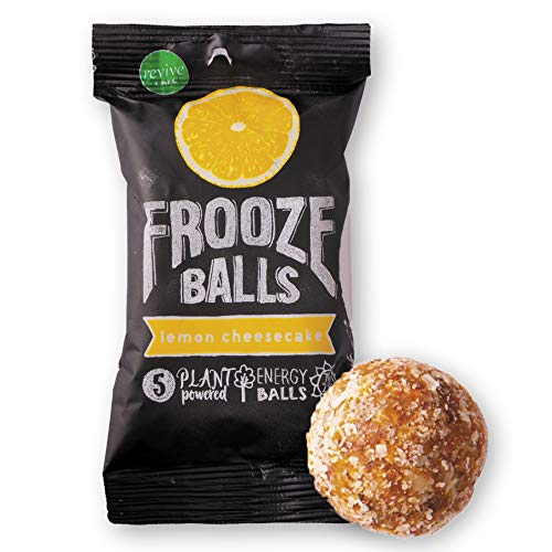 Frooze Balls Fruit amp Nut Energy Balls Lemon Cheesecake Pack of 8 | PlantBased  Whole Food GlutenFree Dairy Free Vegan and Non GMO