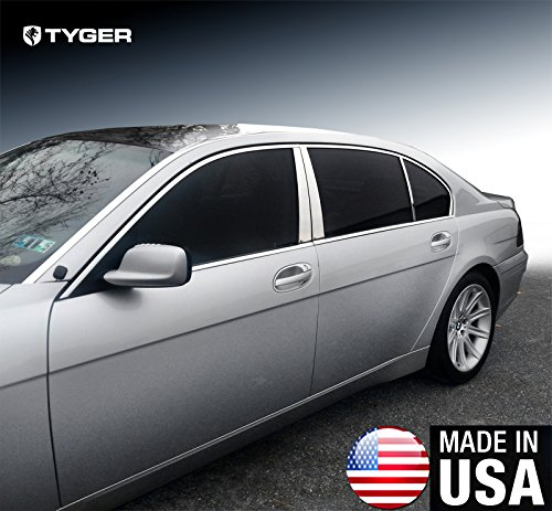 MAXMATE Made in USA! Works with 2002-2008 BMW 7 Series E65/E66 745/750/760 Stainless Steel Chrome Pillar Post Trim 6PC