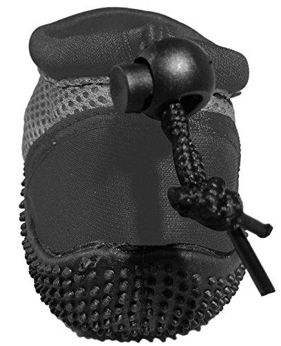 Wave Runner Quick Dry Wasserschuhe Aqua Socken Barfuß Slip-On mit verstellbaren Rückengurt für Männer Frauen Grau