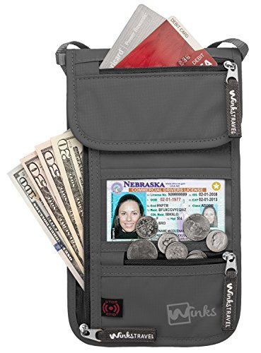 RFID Travel Neck Pouch Passport Holder | Premium Waterproof Neck Wallet Stash