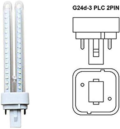 Pack 5 Bombillas Aigostar 002793 LED PLC 2U 11W Bombilla LED Maiz G24 6400K [Clase de eficiencia energética A+]: Amazon.es: Iluminación