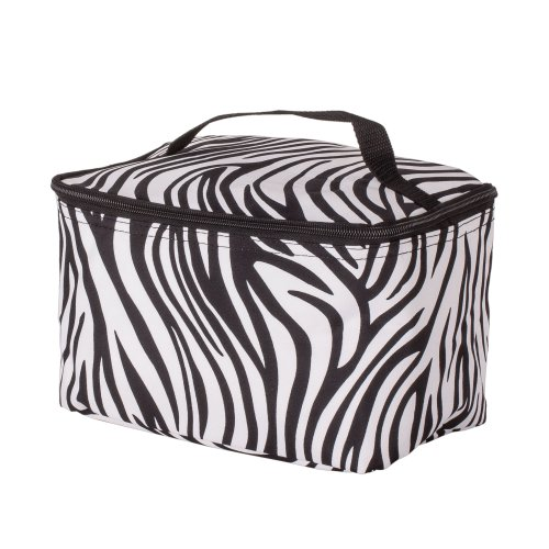 Large Zebra Print Cosmetic Bag, Bags Central