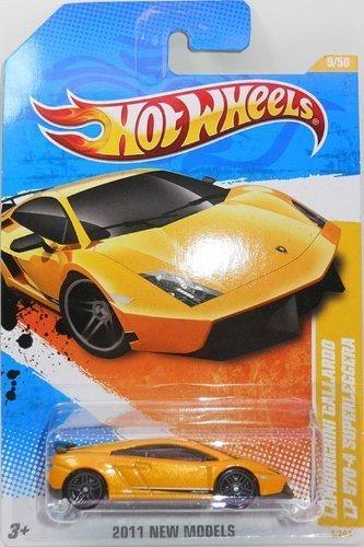 LAMBOURGHINI GALLARDO LP 570-4 SUPERLEGGERA Hot Wheels 2011 New Models 1:64 Scale Collectible Car