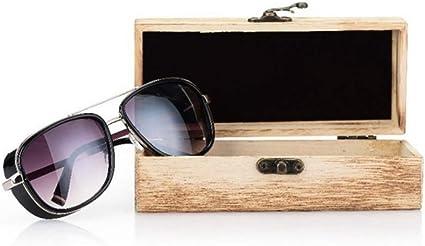 HQWLCIYD Estuche de lápices Estuche de lentes Caja de vidrios hechos a mano Caja de protección de madera natural de bambú retro unisex gafas de sol: Amazon.es: Oficina y papelería
