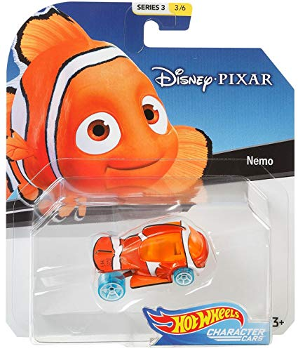 Hot Wheels 2019 Disney/Pixar Character Cars 1/64 Collectible Die Cast Toy Cars-Nemo