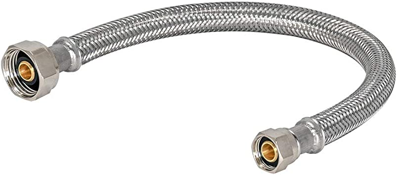 """Diy 3/"""" X 12/"""" Stainless Steel Braided 8/"""" Flex Pipe Connector Adapter Piping"""