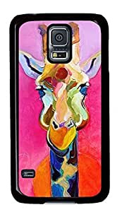 THYde Case Shell for Samsung Galaxy S Covered with Giraffe Painting,Customized Black Hard Plastic Cover Skin for Samsung Galaxy S I ,Cute iPhone 6 plus 5.5 Case ending