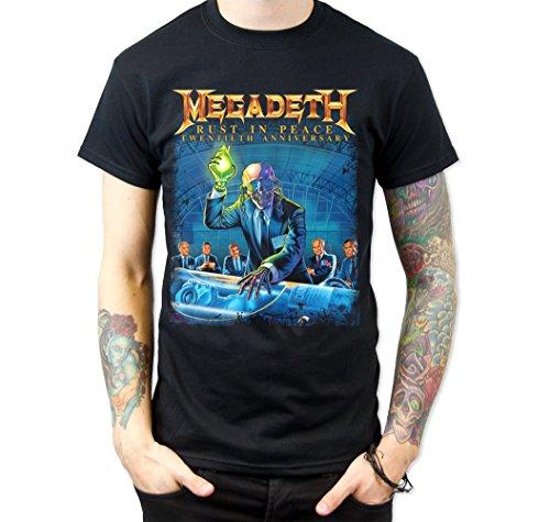 Megadeth Rust In Peace Twentieth (Anniversary) T-Shirt Black (Small)