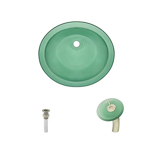 ugm-emerald montaje bajo encimera cristal lavabo grifo ...