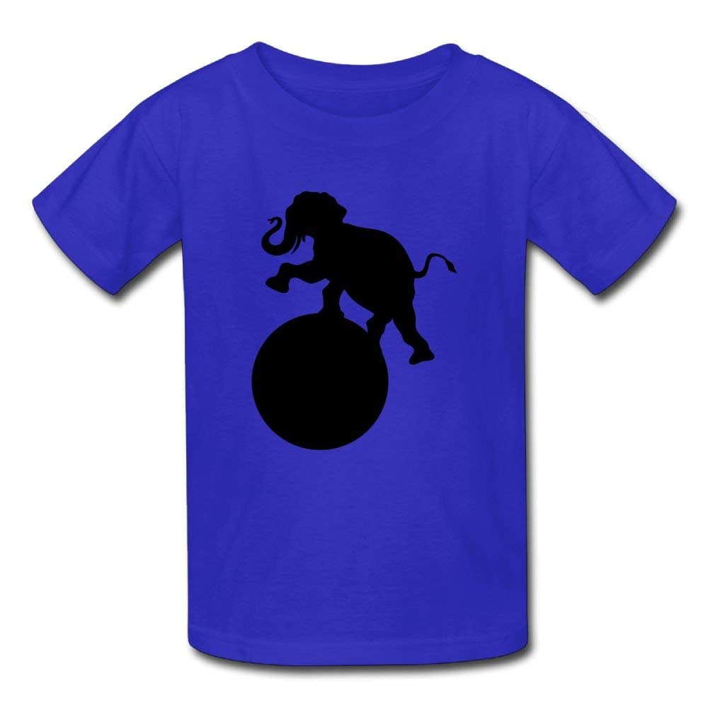 Moniery Cute Short Sleeve Tshirts Elephant Playing Ball Birthday Day Baby Boys Kids