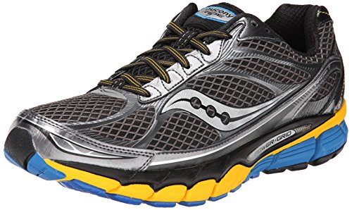 Saucony Men's Ride 7 Running Shoe,Grey/Yellow/Blue,8.5 M US