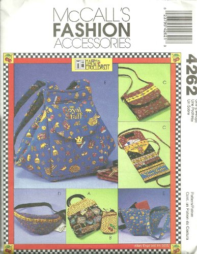 Bags & Accessories McCall's Fashion Accessories Sewing Pattern 4262 ()