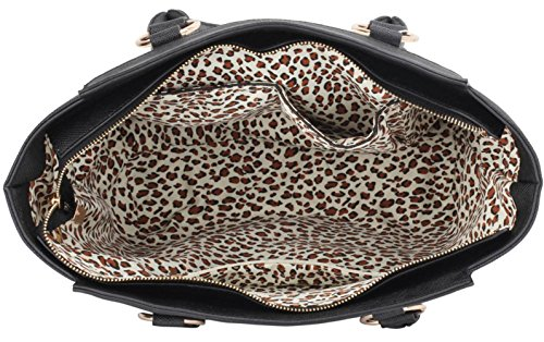 Bags Designer Leather Faux Fashion Celebrity Black Shoulder Handbag Strap Quality Tote Cws00414 Women's With Ladies ASHxaZ
