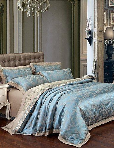 ZQファッションパーソナリティスタイルフラッシュSaleグリーン寝具セットTributeシルクファブリックベッドクロスの寝室ホームテキスタイル新しい年ギフト4点クイーンキング キング 8096525890136 B01GLBJ4XA  キング