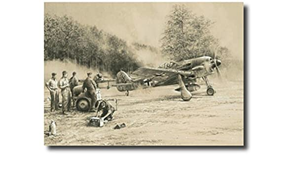 WWII Decor Breaking Cover by Robert Taylor Fw190 Military Aviation Art