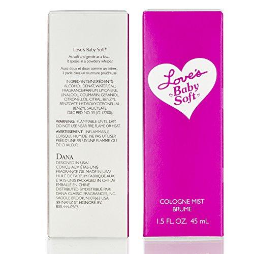 Dana Classic Fragrances Love's Baby Soft Cologne Mist 1.5 Fl. Oz