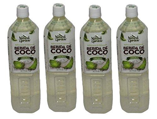 Aloe Garden Natural Garden Premium Aloe Vera Drink  Pack Of 4 50 7Oz 1 5L Bottles   Coconut