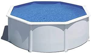 Piscina desmontable de acero blanco redonda 300 x 120 cm con depuradora de arena y escalera de seguridad: Amazon.es: Alimentación y bebidas