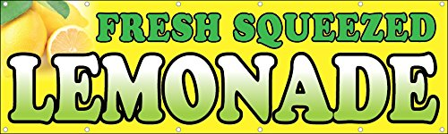 3x10 Ft Fresh Squeezed Lemonade Vinyl Banner Sign yb (10 Lemonade)