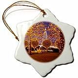 3dRose LLC orn_146535_1 Porcelain Snowflake Ornament, 3-Inch, ''Christmas, Opryland Hotel, Nashville, Tennessee USA-Brian Jannsen''